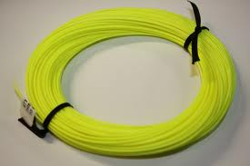 The fly fishing line