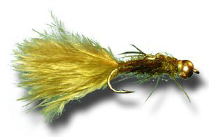 Best flies for brown trout - olive damsel nymph