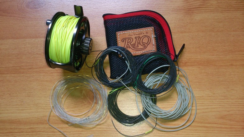 Multi tip fly line wallet and reel