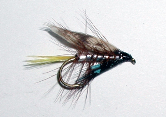 Silver Invicta wet trout fly pattern