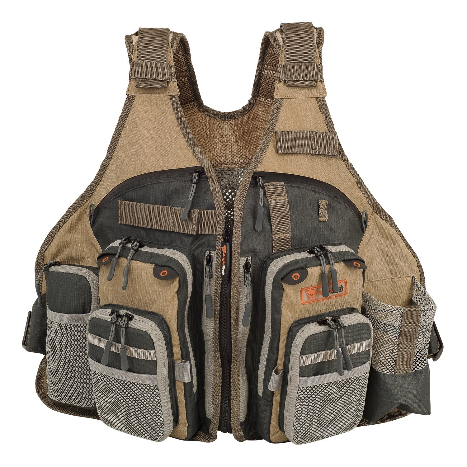 Adjustable mesh fly fishing vest by anglatech review for Fly fishing vest