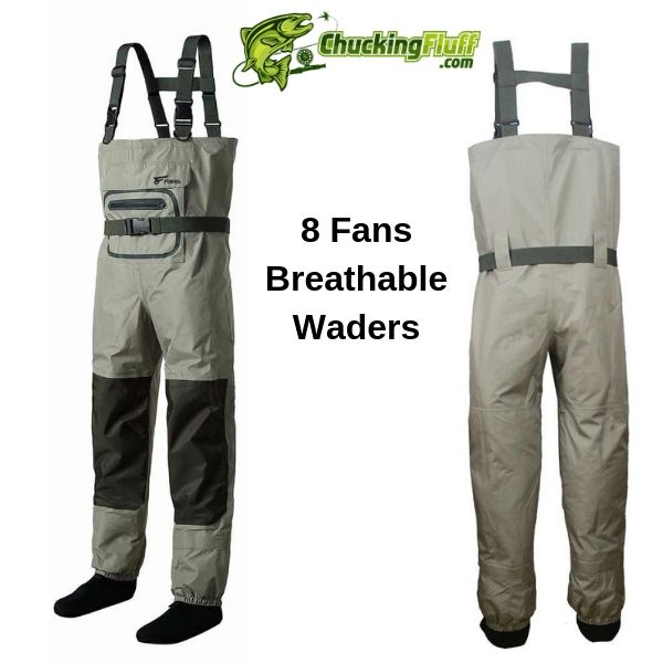 8 Fans Breathable Stockingfoot Waders