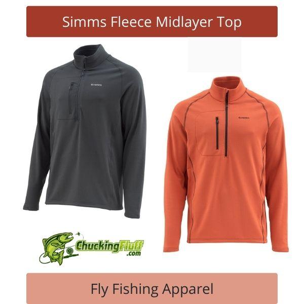 Fly Fishing Apparel - Simms Fleece Midlayer Top
