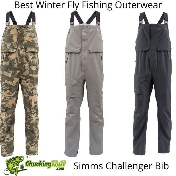 Best Winter Fly Fishing Jackets - Simms Challenger Bib Colors