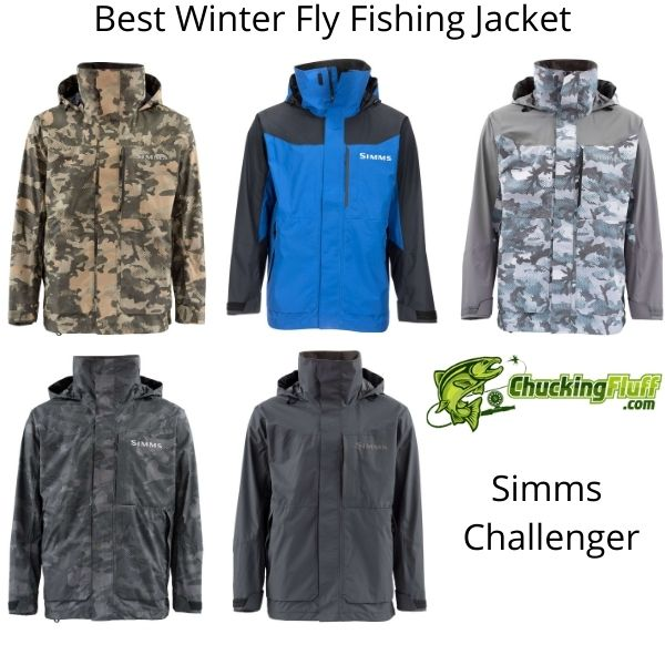 Best Winter Fly Fishing Jackets - Simms Challenger Colors