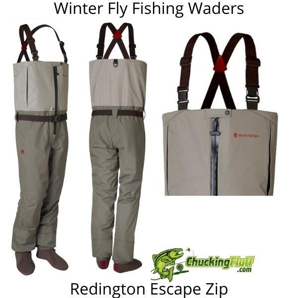 Winter Fly Fishing Waders - Redington Escape Zip