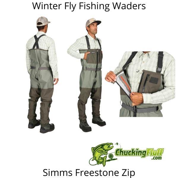 Winter Fly Fishing Waders - Simms Freestone Zip