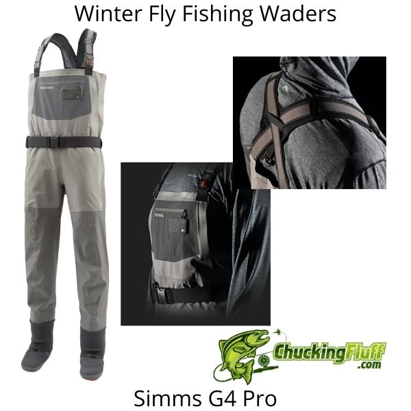 Winter Fly Fishing Waders - Simms G4 Pro