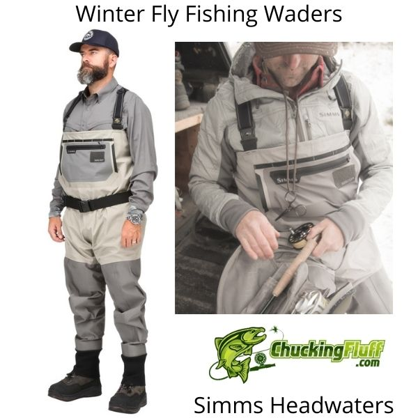 Winter Fly Fishing Waders - Simms Headwaters