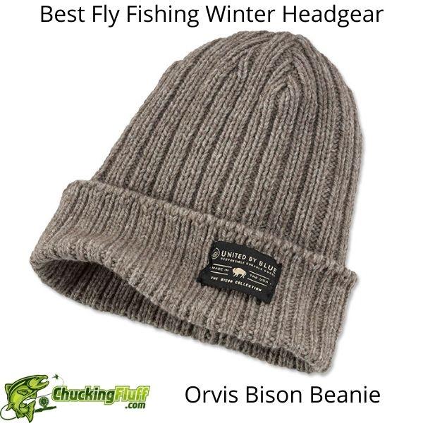 Best Fly Fishing Winter Headgear - Orvis Bison Beanie